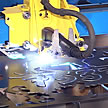 Plasma Machine Cutting a Sign