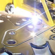 Close Shot of Plasma Cutting